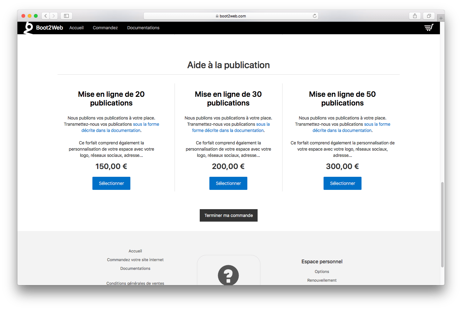 boot2web - assistance à la publication de vos contenus